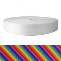 2 Inch Picture Quality Polyester Webbing Calico Rainbow