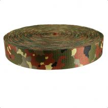 2 Inch Picture Quality Polyester Webbing Camouflage Flecktarn
