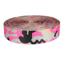 2 Inch Picture Quality Polyester Webbing Camouflage Pink