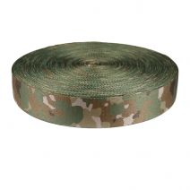 2 Inch Picture Quality Polyester Webbing Camouflage Quadra