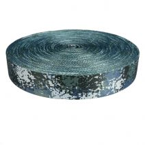 2 Inch Picture Quality Polyester Webbing Camouflage Digital Blue