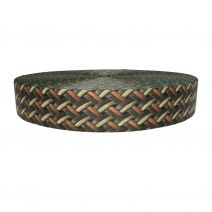 2 Inch Picture Quality Polyester Webbing Leather Weave