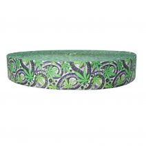2 Inch Picture Quality Polyester Webbing Nu Canna Black Paisley