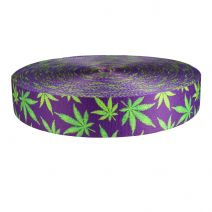 2 Inch Picture Quality Polyester Webbing Nu Canna Purple