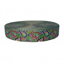 2 Inch Picture Quality Polyester Webbing Nu Canna Vintage Paisley