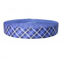 2 Inch Picture Quality Polyester Webbing Blue Plaid