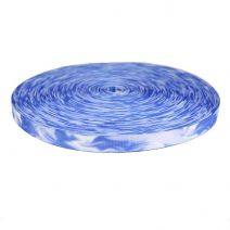 3/4 Inch Picture Quality Polyester Webbing Blue Smoke