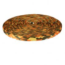 3/4 Inch Picture Quality Polyester Webbing Camouflage Autumn