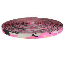 3/4 Inch Picture Quality Polyester Webbing Camouflage Pink