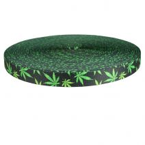 3/4 Inch Picture Quality Polyester Webbing Nu Canna Charcoal