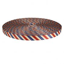 3/4 Inch Picture Quality Polyester Webbing Patriot