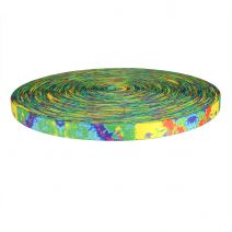 3/4 Inch Picture Quality Polyester Webbing Psychadelia