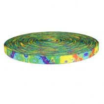 3/4 Inch Picture Quality Polyester Webbing Psychic Rainbow