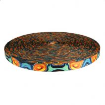 3/4 Inch Picture Quality Polyester Webbing Psychic Whorl