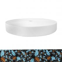1-1/2 Inch Picture Quality Polyester Webbing Bees