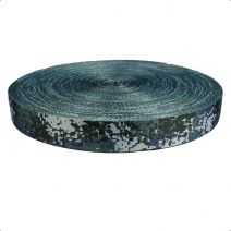 1-1/2 Inch Picture Quality Polyester Webbing Camouflage Digital Blue