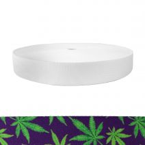 1-1/2 Inch Picture Quality Polyester Webbing Nu Canna Purple