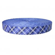 1-1/2 Inch Picture Quality Polyester Webbing Blue Plaid