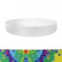 1-1/2 Inch Picture Quality Polyester Webbing Psychadelia