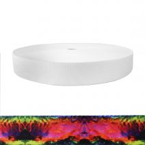 1-1/2 Inch Picture Quality Polyester Webbing Psychic Rainbow