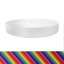 1-1/2 Inch Picture Quality Polyester Webbing Rainbow Stripe