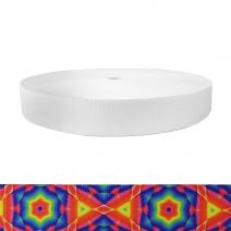 1-1/2 Inch Picture Quality Polyester Webbing Starburst