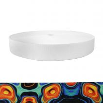 1-1/2 Inch Picture Quality Polyester Webbing Psychic Whorl