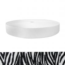 1-1/2 Inch Picture Quality Polyester Webbing Zebra