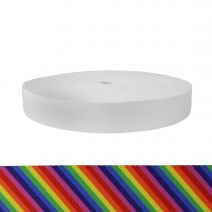 1-3/4 Inch Picture Quality Polyester Webbing Rainbow Stripe