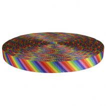 1 Inch Utility Polyester Webbing Rainbow Stripe