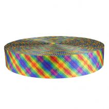 2 Inch Utility Polyester Webbing Calico Rainbow