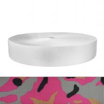 2 Inch Utility Polyester Webbing Camouflage Pink