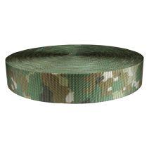 2 Inch Utility Polyester Webbing Camouflage Quadra