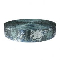 2 Inch Utility Polyester Webbing Camouflage Digital Blue