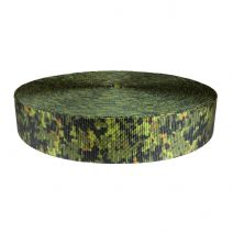 2 Inch Utility Polyester Webbing Camouflage Digital Jungle