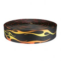 2 Inch Utility Polyester Webbing Hot Rod Flames