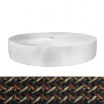 2 Inch Utility Polyester Webbing Leather Weave