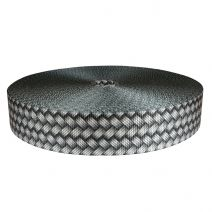 2 Inch Utility Polyester Webbing Metal Weave - Silver