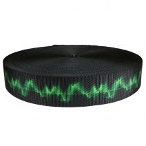 2 Inch Utility Polyester Webbing Wave Green