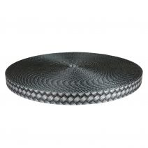 3/4 Inch Utility Polyester Webbing Metal Weave