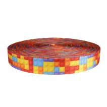 1-1/2 Inch Utility Polyester Webbing Color Blox