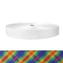 1-1/2 Inch Utility Polyester Webbing Calico Rainbow