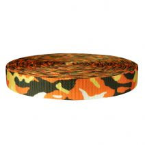 1-1/2 Inch Utility Polyester Webbing Camouflage Autumn