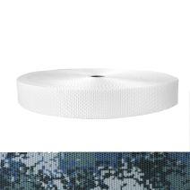 1-1/2 Inch Utility Polyester Webbing Camouflage Digital Blue