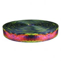1-1/2 Inch Utility Polyester Webbing Psychic Rainbow