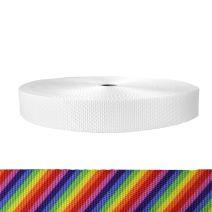 1-1/2 Inch Utility Polyester Webbing Rainbow Stripe