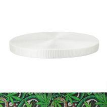 1 Inch Tubular Polyester Nu Canna Green Paisley