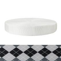 2 Inch Tubular Polyester Argyle: Black and White