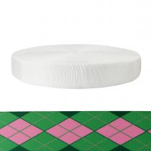 2 Inch Tubular Polyester Argyle: Pink and Green