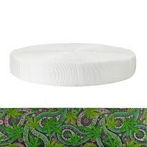 2 Inch Tubular Polyester Nu Canna Green Paisley